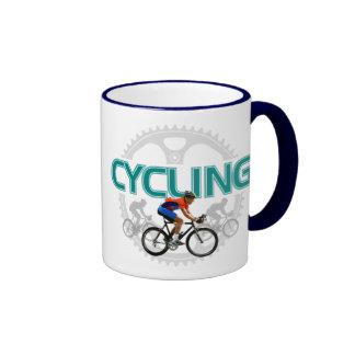 Cool Cycling Design On Ringer Mug