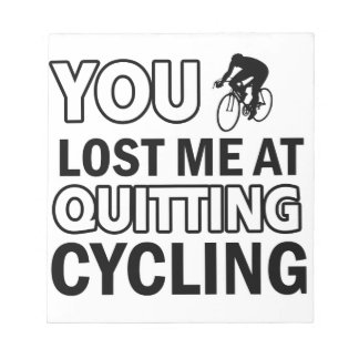 Cool cycling designs memo note pad