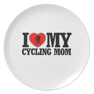 cool Cycling  mom designs Dinner Plate