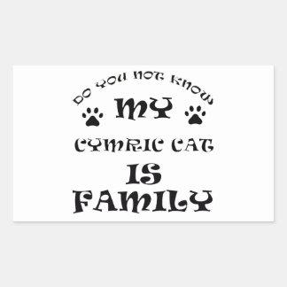Cool CYMRIC CAT designs Rectangular Sticker