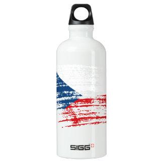 Cool Czech flag design Aluminum Water Bottle