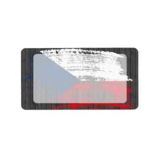 Cool Czech flag design Label