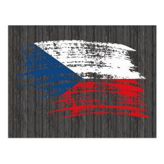 Cool Czech flag design Postcard