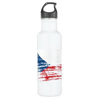 Cool Czech flag design Stainless Steel Water Bottle
