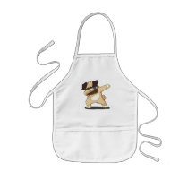 Cool Dabbing Pug with Sunglasses Kids Apron