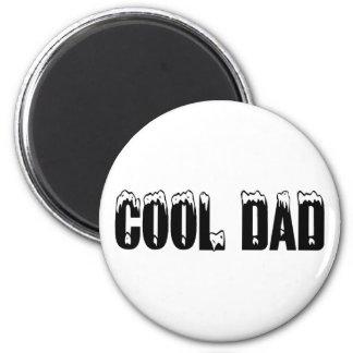 Cool Dad (Blk) 2 Inch Round Magnet