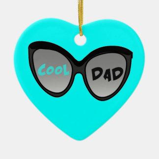 Cool Dad Glasses Ceramic Ornament