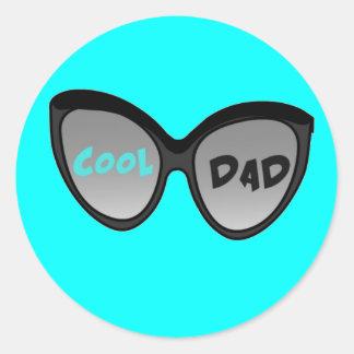 Cool Dad Glasses Classic Round Sticker