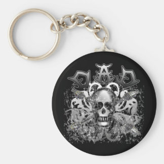Cool DAD in Heavy Metal Style Tshirts and Gifts Keychain