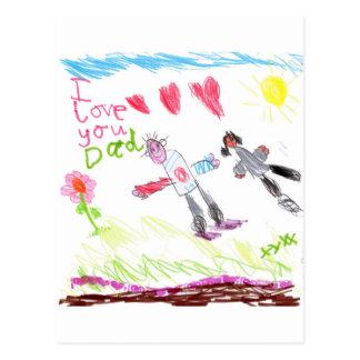 Cool Dad Postcard