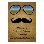 Cool Dad Sunglasses/Mustache Greeting Card