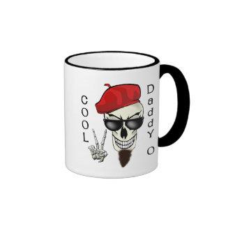 Cool Daddy - O Beatnik Skull Ringer Coffee Mug