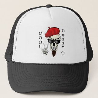 Cool Daddy - O Beatnik Skull Trucker Hat