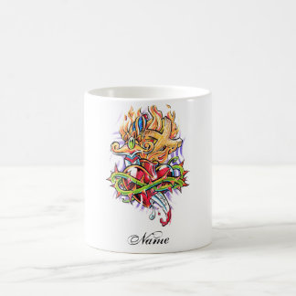 Cool Dagger Heart and Cross tattoo  mug