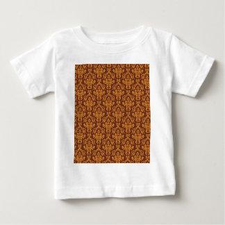 cool damask brown vintage pattern background tshirts