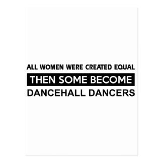Cool Dancehall Dancing designs Postcard