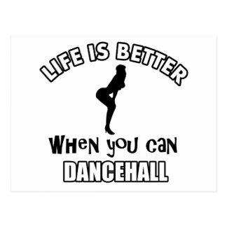 Cool Dancehall Dancing designs Post Cards