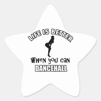 Cool Dancehall Dancing designs Star Sticker