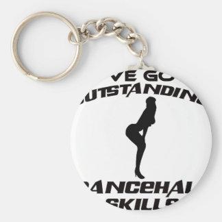Cool dancehall designs basic round button keychain