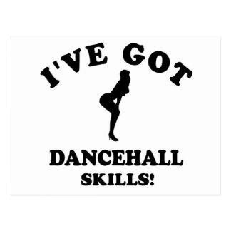 Cool dancehall designs postcard