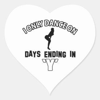 Cool dancehall designs heart sticker