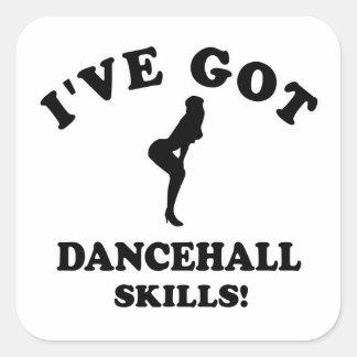 Cool dancehall designs square sticker