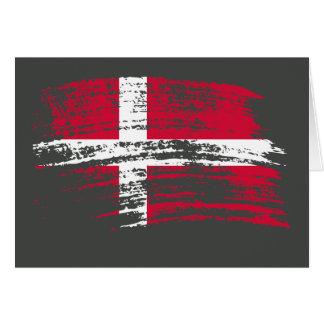 Cool Danish flag design Greeting Cards