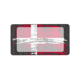 Cool Danish flag design Label
