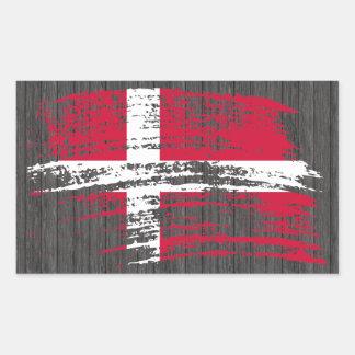 Cool Danish flag design Rectangle Sticker