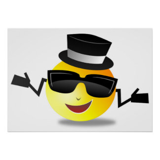 COOL DAPPER SMILEY POSTER