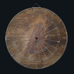 "Cool Dark Brown Rustic Wood Look Background Dartboard<br><div class=""desc"">Dartboard has a knotty wood grain look for home, office or pub darts. Aim for the big knot in the middle. Beautiful wood look. (Product is NOT real wood.) Rustic knotty pine wood with the interesting nuances and imperfections we find in Mother Nature. Wood knots are cool! Personalize it with...</div>"