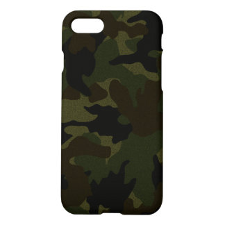 Cool Dark Green Faux Cloth Camo Camouflage Zazzle iPhone 8/7 Case