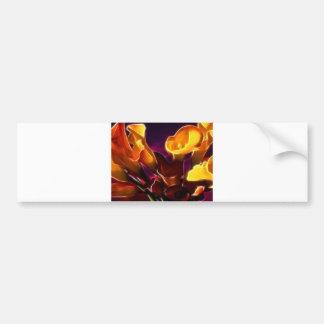 Cool Dark Purple Calla Lilies Bumper Sticker