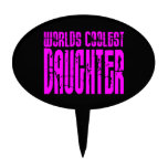 Cool Daughters : Pink Worlds Coolest Daughter Cake Topper
