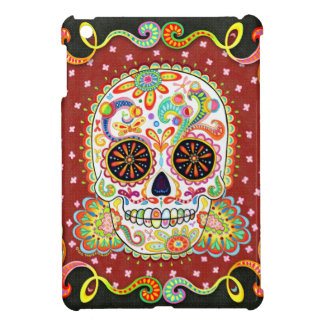 Cool Day of the Dead Sugar Skull iPad Mini Case