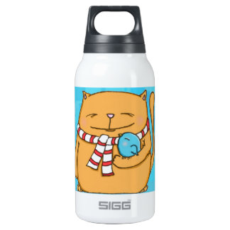 cool day warm hearts Big cat and small bird SIGG Thermo 0.3L Insulated Bottle