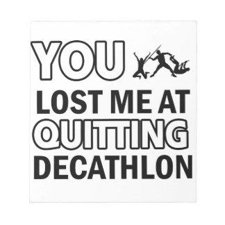 Cool decathlon designs memo notepads