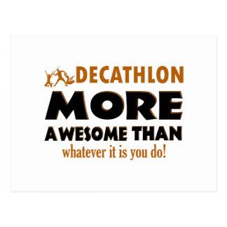 Cool Decathlon designs Postcard