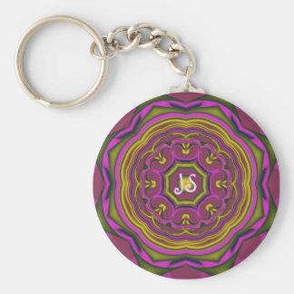 Cool decorative keychain with monogram