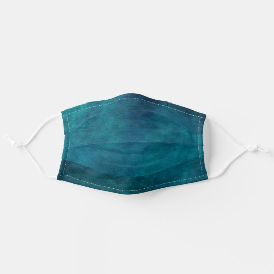 Cool Deep Blue Green  Watercolor Pattern Adult Cloth Face Mask