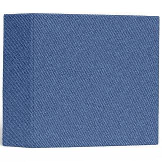 Cool Denim Blue Jeans 3 Ring Binder