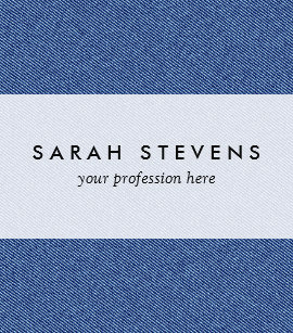 Denim jeans business cards zazzle cool denim blue jeans business card reheart Image collections