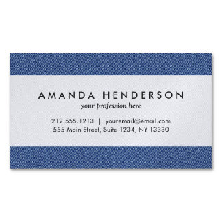Cool Denim Blue Jeans Business Card Magnet
