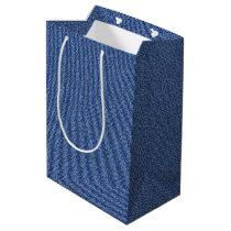 Cool Denim Blue Jeans Medium Gift Bag
