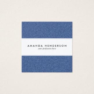 Cool Denim Blue Jeans Square Business Card