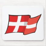 Cool Denmark Flag Mouse Pad