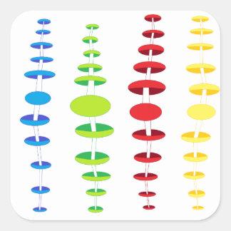 cool design square sticker
