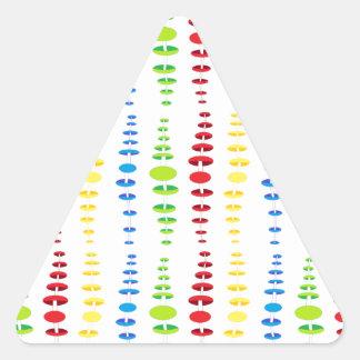 cool design triangle sticker