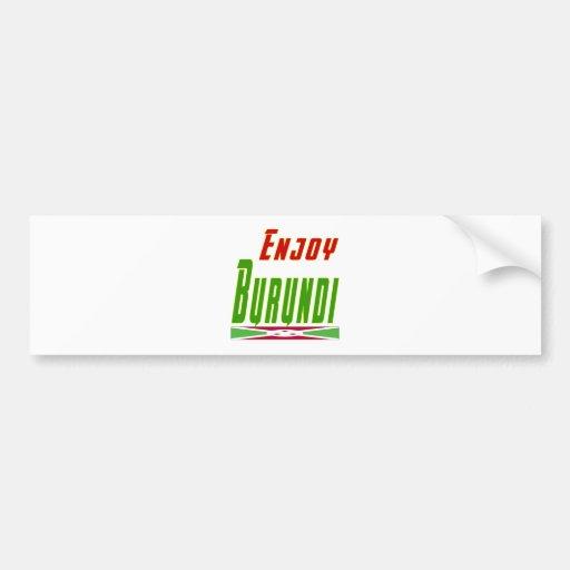 Cool Designs For Burundi Bumper Sticker