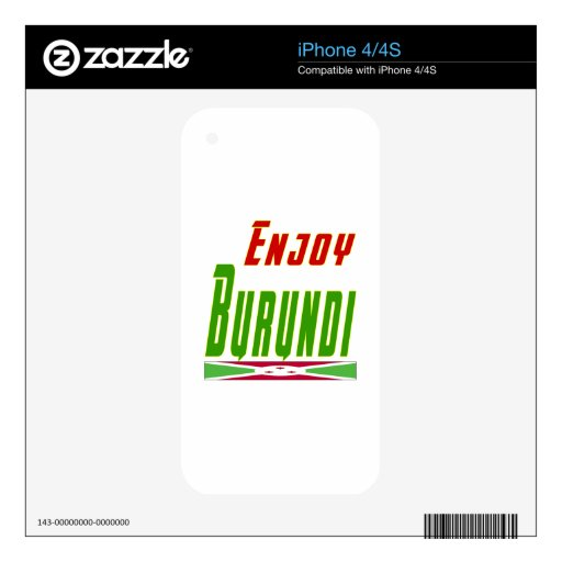 Cool Designs For Burundi Decal For The iPhone 4